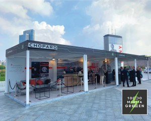 Custom gazebo for Mille Miglia Green - Creation Srl