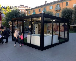 Gazebo customized with flooring - Truffle Festival Turin