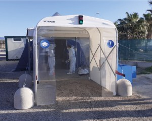 Sanitary Gate - Sanitizing tunnel