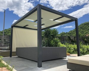 KUBE 120 - Patio canopy for garden and pool