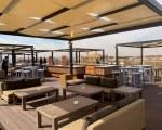 Sun canopy for bar