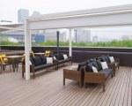 Retractable sun shade for resort - Danamoo
