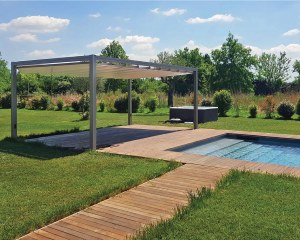 Pergola with retractable awning Onda