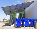 Outdoor canopy for waste shelter - Headquarter Giulio Barbieri