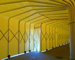 Covered walkway for the Facchin Lino Eredi in Italy