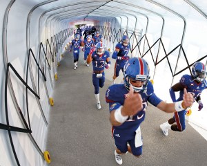 Football tunnel for Kansas Athletics in the USA