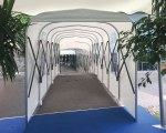 Covered walkway for the Eventmore in Switzerland