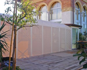 Covered walkway for a private house