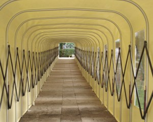 Covered walkway in Montegrotto Terme, Italy