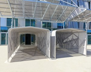 Covered walkway of Federal Polytechnic of Losanna in Switzerland