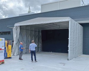 Temporary warehouse for large-scale distribution