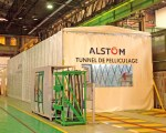 Retractable work tunnel for Alstom in France