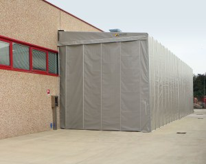 Temporary building for MB Fiber, Italy