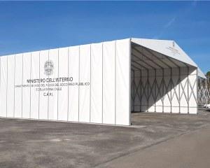 Temporary building for Rome Fire Brigade