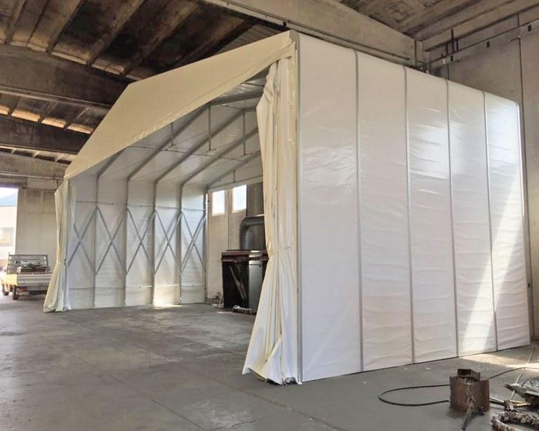 Temporary building for Floatex in Brescia - Italy