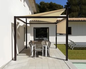 Free-standing shade sail in a private villa - Majorca