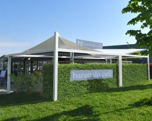 Shade sail for Arredamenti Perla Snc in Valenza Po, Italy