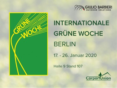 Le carport solaire Pensilsole à la Internationale Grüne Woche internationale de Berlin grâce à CarportUnion