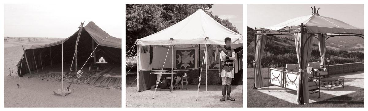 Évolution de la tente au chapiteau
