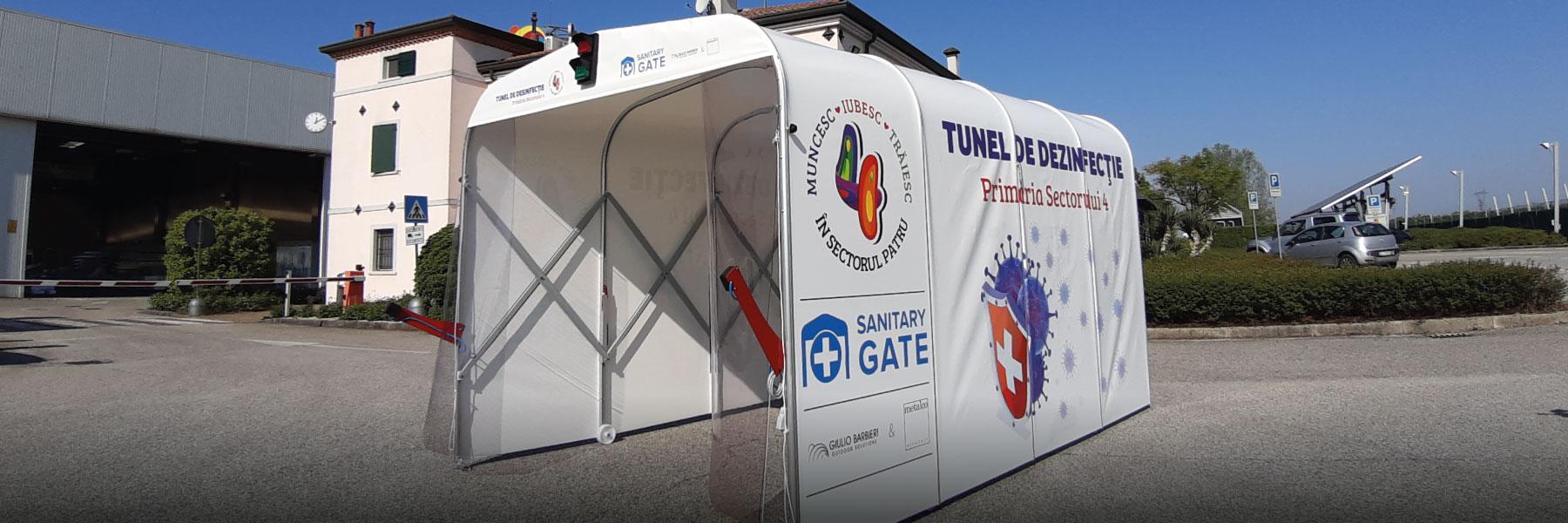 SANITARY GATE - TUNNEL ADAPTE À L'ASSAINISSEMENT