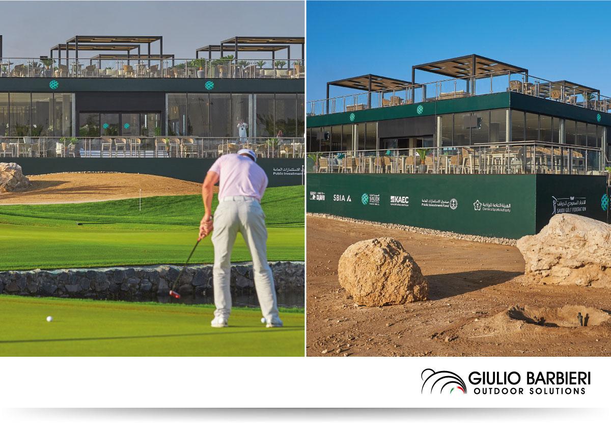 "Pergola autoportante pour ""International Golf Cup"" - Dubai"