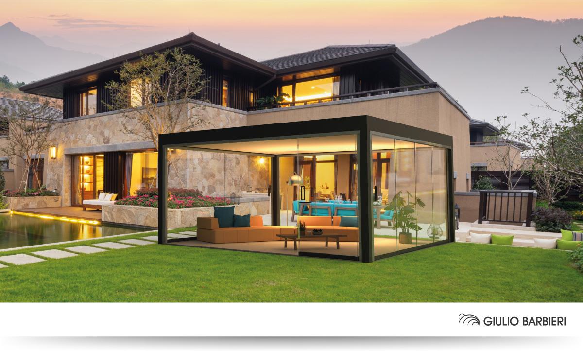 Pergola bioclimatique avec toit fixe Eclettica