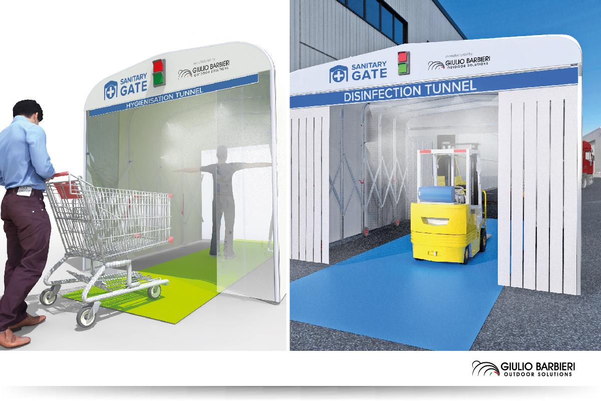 Sanitary Gate – Tunnel d'hygiénisation et assainissement Giulio Barbieri