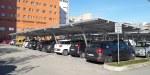 Abris photovoltaïques installés à l'hôpital de Ravenne