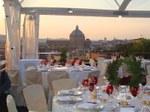 Tente de réception sur la terrasse Caffarelli à Rome