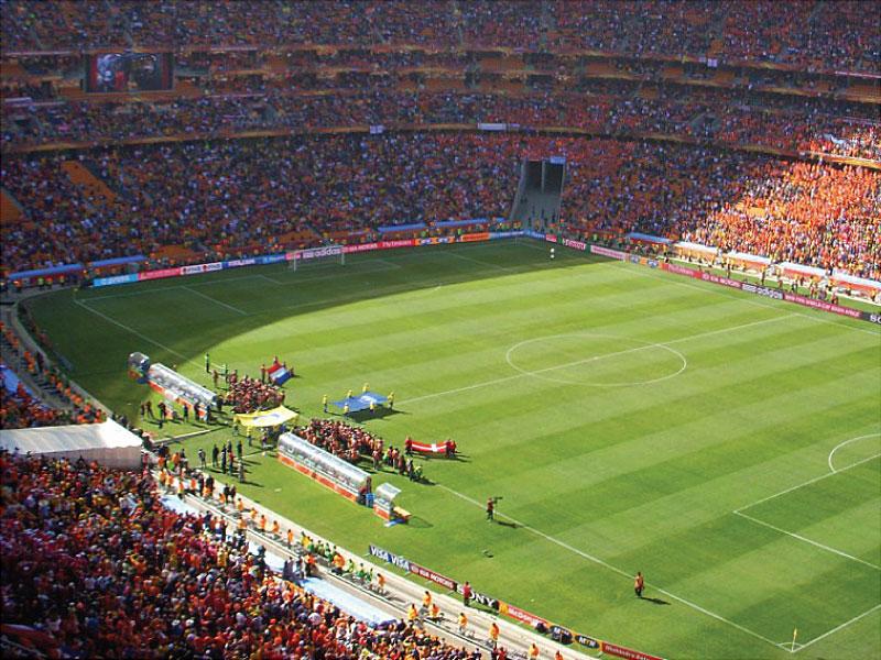 Tunnel d'entrée des joueurs de football - Coupe du Monde de la FIFA