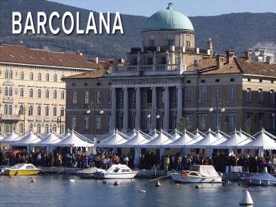 Italie - Les chapiteaux pour l'extérieur de Giulio Barbieri à la régate de voiliers Barcolana à Trieste