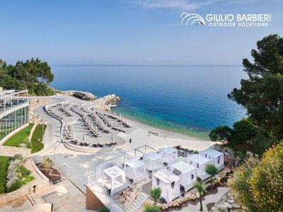 Le luxueux Kempinski Hotel Adriatic choisit les pergolas autoportantes en aluminium Giulio Barbieri