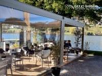 Une véranda pour le bar restaurant New Lido au style Qzebo