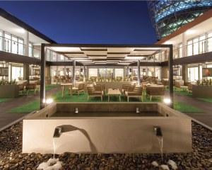 Pergola entrelacée Kube - ADIPEC 2019, Abu Dhabi