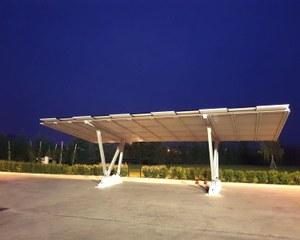 Carport solaire en aluminium avec faux plafond