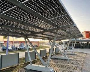 Carport solaire Pensilsole – Enecon (Krems, Austria)