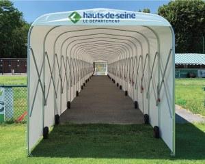 Football tunnel pour le stade Suresnes Hauts-de-Seine Rugby Club