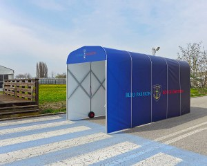 Football tunnel pour la Ferronerie d'Art Lobligeois en France