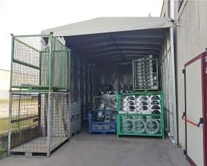 Couverture mobile industrielle pour C.S. Fond à Vérone en Italie