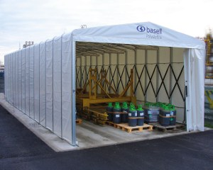 Couverture mobile industrielle pour Basell