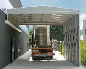 Tunnel de stockage pour une ferme à Chieti, en Italie