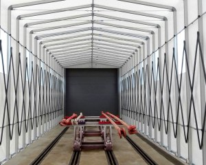 Tunnel rétractable pour la société Solumat de Vinci Construction à Vierzon