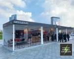 Gazebo personnalisé pour Mille Miglia Green- Creation Srl
