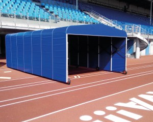 Tunnel d'accès de football