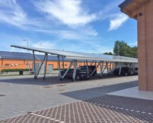 Pensilina fotovoltaica per Consorzio di Bonifica Pianura di Ferrara