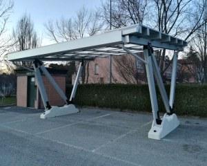 Pensilina fotovoltaica per Naldi Impianti