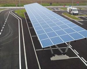 Pensilina fotovoltaica per parcheggio autostradale
