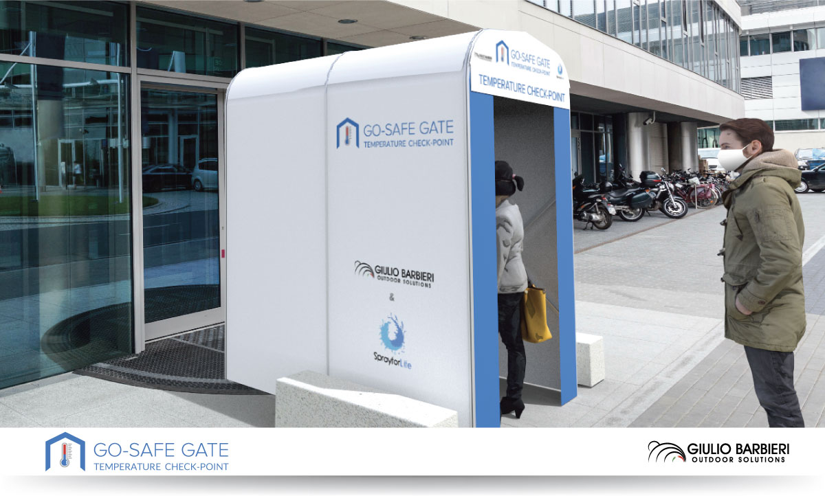 Go-Safe Gate - portale con termoscanner per il rilevamento della temperatura corporea