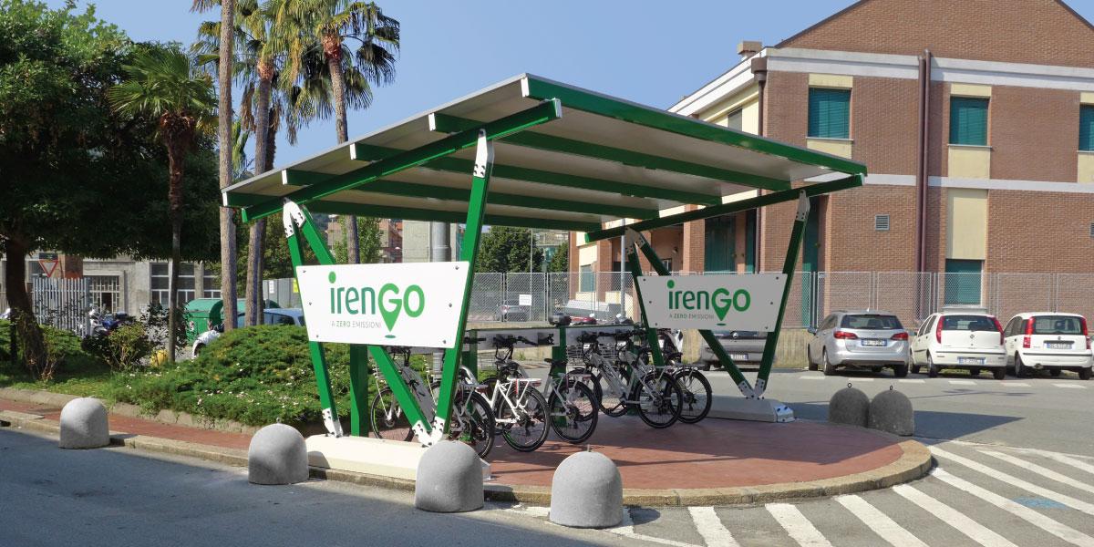 carport with e-bike charging station