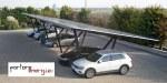 pensilina fotovoltaica Pensilsole per parcheggio industriale